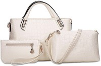 LACIRA BA002WHT Shoulder Bag(White, 12 inch)