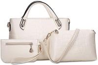 LACIRA BA002WHT Shoulder Bag(White, 12 inch)