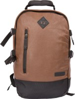 Sibyl Leatherite Unisex Backpack Backpack(Brown, 12 L)