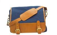 Romari Messenger Bag(navy blue, Brown, 2 L)