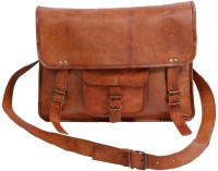 View Pranjals House 11 inch, 15 inch Laptop Messenger Bag(Brown) Laptop Accessories Price Online(Pranjals House)