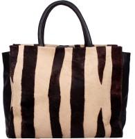 Romari Shoulder Bag(dark brown, off white, 5)
