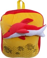 Natali Traders Dolphin School Backpack For Kids  - 40 cm(Yellow)