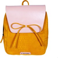 L'ANGE LEATHER BACKPACK Multipurpose Bag(YELLOW/PINK, 10 L)