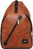 Celestial Horse Unique College Series Cross Body Back Pack Multipurpose Bag(Brown, 17 L)