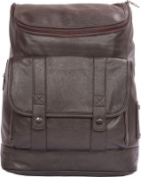 Sibyl Leatherite Men's Handbag Backpack(Brown, 12 L)