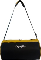 View MYARTE AXIS GYM BAG Laptop Bag(Black, Yellow) Laptop Accessories Price Online(Myarte)