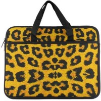 View techbyte leo01 sleeve Laptop Bag(leopard Print) Laptop Accessories Price Online(Techbyte)