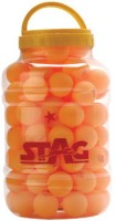 Stag Three Star Table Tennis Ball(Pack of 72, Orange)