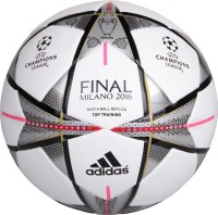 Adidas Finale Milano Top Traning Football -   Size: 5(Pack of 1, White, Black, Silver)