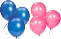 Ziggle Solid Balloon Metallic Balloon(Pink, Blue, Pack of 50)