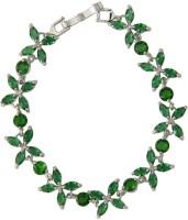 Taj Pearl Alloy Cubic Zirconia Sterling Silver Bracelet
