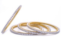 Hyderabad Jewels Silver, Alloy Bangle Set(Pack of 4)