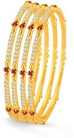 Sukkhi Copper Gold-plated Bangle Set(Pack of 4)