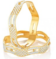 Sukkhi Alloy Gold-plated, Rhodium Bangle Set(Pack of 2)