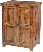 Ringabell Vocatus Bar Solid Wood Bar Cabinet(Finish Color - Teak)