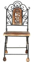 View Acme Production Solid Wood Bar Chair(Finish Color - Walnut Brown) Furniture (Acme Production)