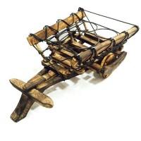 View HanumantCreations Stylish Wine Cart Solid Wood Bar Trolley(Finish Color - Brown) Price Online(HanumantCreations)