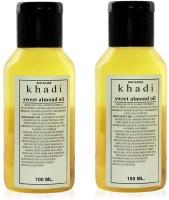 Rockside Khadi Sweet Almond Oil Pack of 2(200 ml) - Price 93 69 % Off