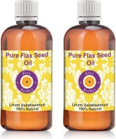 DèVe Herbes Pure Flax Seed Oil - Pack Of Two (100ml + 100ml) Linum Usitatissimum 100% Natural Cold Pressed(200 ml)