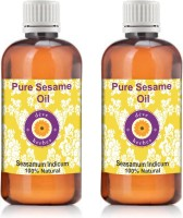 Deve Herbes Pure Sesame Oil - Pack Of Two (100ml + 100ml) Sesamum Indicum 100% Natural Cold Pressed(200 ml)