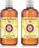 Deve Herbes Pure Safflower Oil - Pack Of Two (100ml + 100ml) Carthamus Tinctorius 100% Natural Cold Pressed(200 ml)