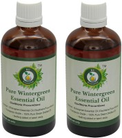 R V Essential Pure Wintergreen Essential Oil (100ml+100ml) Pack of Two- Gaultheria Procumbens(200 ml)