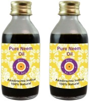 DèVe Herbes Pure Neem Oil - Pack Of Two (100ml + 100ml) Azadirachta Indica 100% Natural Cold Pressed(200)