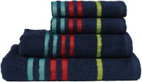 Casa Copenhagen Cotton 475 GSM Bath, Hand Towel Set(Pack of 4, Blue)