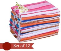 The Chaddar Cotton 150 GSM Face Towel Set(Pack of 12, Multicolor)