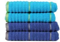 Casa Copenhagen GSM Hand Towel(Pack of 4, Blue)