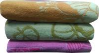 Jums Cotton 650 GSM Bath Towel Set(Pack of 3, Multicolor)