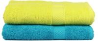 Trident Cotton 400 GSM Bath Towel Set(Pack of 2, Blue, Light Green)