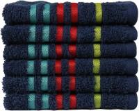Casa Copenhagen Cotton 475 GSM Face Towel Set(Pack of 6, Blue)
