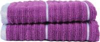 Casa Copenhagen GSM Hand Towel(Pack of 2, Purple)