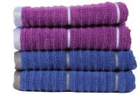 Casa Copenhagen GSM Hand Towel(Pack of 4, Purple, Blue)