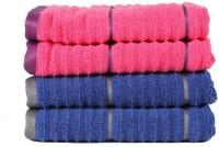 Casa Copenhagen GSM Hand Towel(Pack of 4, Pink, Blue)