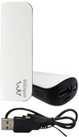 Ambrane P-26 2600 mAh Portable Charger(White & Black)