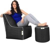 Can bean bags XXXL Bean Chair Cover  (Without Beans)(Black)