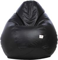 View Star XL Teardrop Bean Bag Teardrop Bean Bag  With Bean Filling(Black) Furniture (Star)