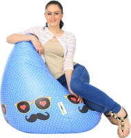 View Can Bean Bag XXL Bean Bag  With Bean Filling(Blue, Black) Price Online(Can Bean Bag)