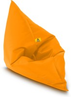 Dolphin Bean Bags XXXL Bean Bag Chair  With Bean Filling(Yellow)