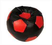 View ARRA Medium Bean Bag Cover(Black, Red) Furniture (ARRA)
