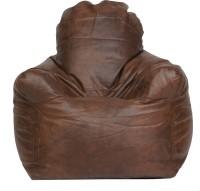 View ARRA Medium Bean Chair Cover(Brown) Furniture (ARRA)