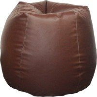 View Fat Finger XXL Bean Bag Cover  (Without Beans)(Brown) Furniture (Fat Finger)