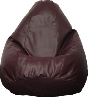 View Fat Finger XL Teardrop Bean Bag  With Bean Filling(Maroon) Furniture (Fat Finger)