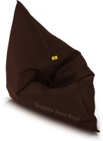 Dolphin Bean Bags XXXL Bean Bag Chair  With Bean Filling(Brown)