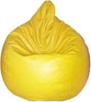 View Comfort XXL Bean Bag  With Bean Filling(Yellow) Price Online(Comfort)