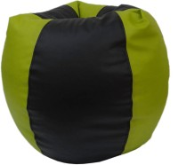 View ORKA XXXL Bean Bag Cover  (Without Beans)(Black, Green) Furniture (ORKA)