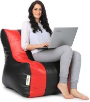 Can bean bags XL Bean Chair Cover  (Without Beans)(Red, Black)